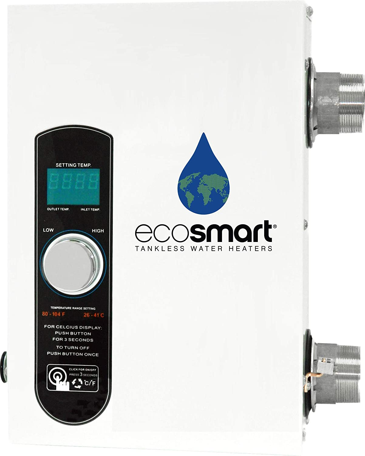 EcoSmart Electric Tankless Pool Heater with Self Modulating Technology - 27kW, 240 Volt, 112.5 Amps