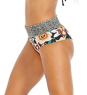 b60cac4847 Amazon.com: Body Glove Ambrosia Sweetie High-Rise Cheeky Bikini Brief  (3944354): Clothing