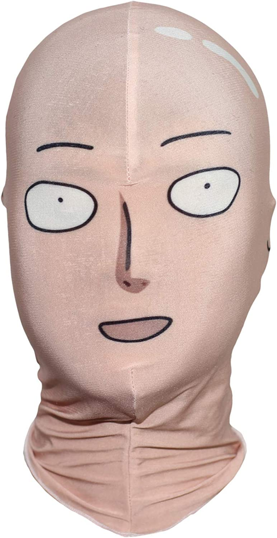 Amazon Com One Punch Man Saitama Face Mask Cosplay Hood Clothing