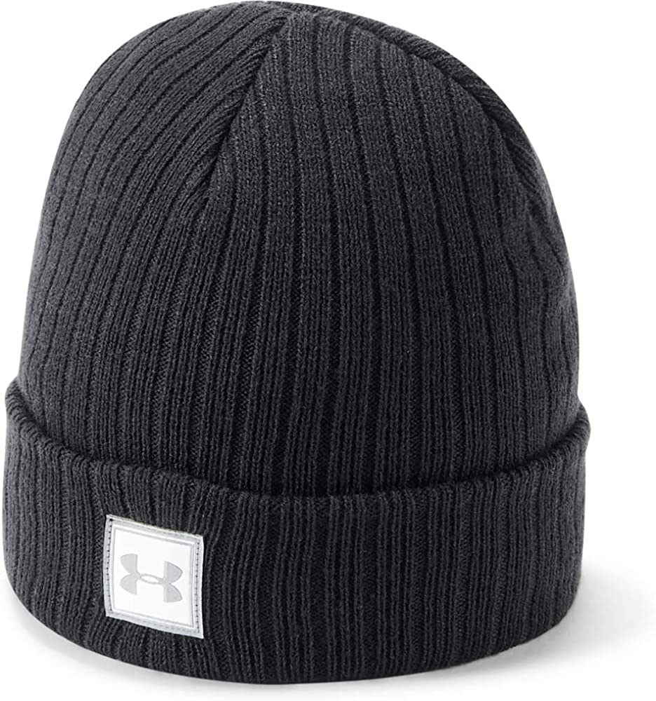 Under Armour Boys Truckstop Beanie 2.0, Black (001)/Black, One Size Fits All: Clothing