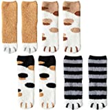 4 Pairs Winter Cat Claws Cute Thick Warm Sleep Floor Socks