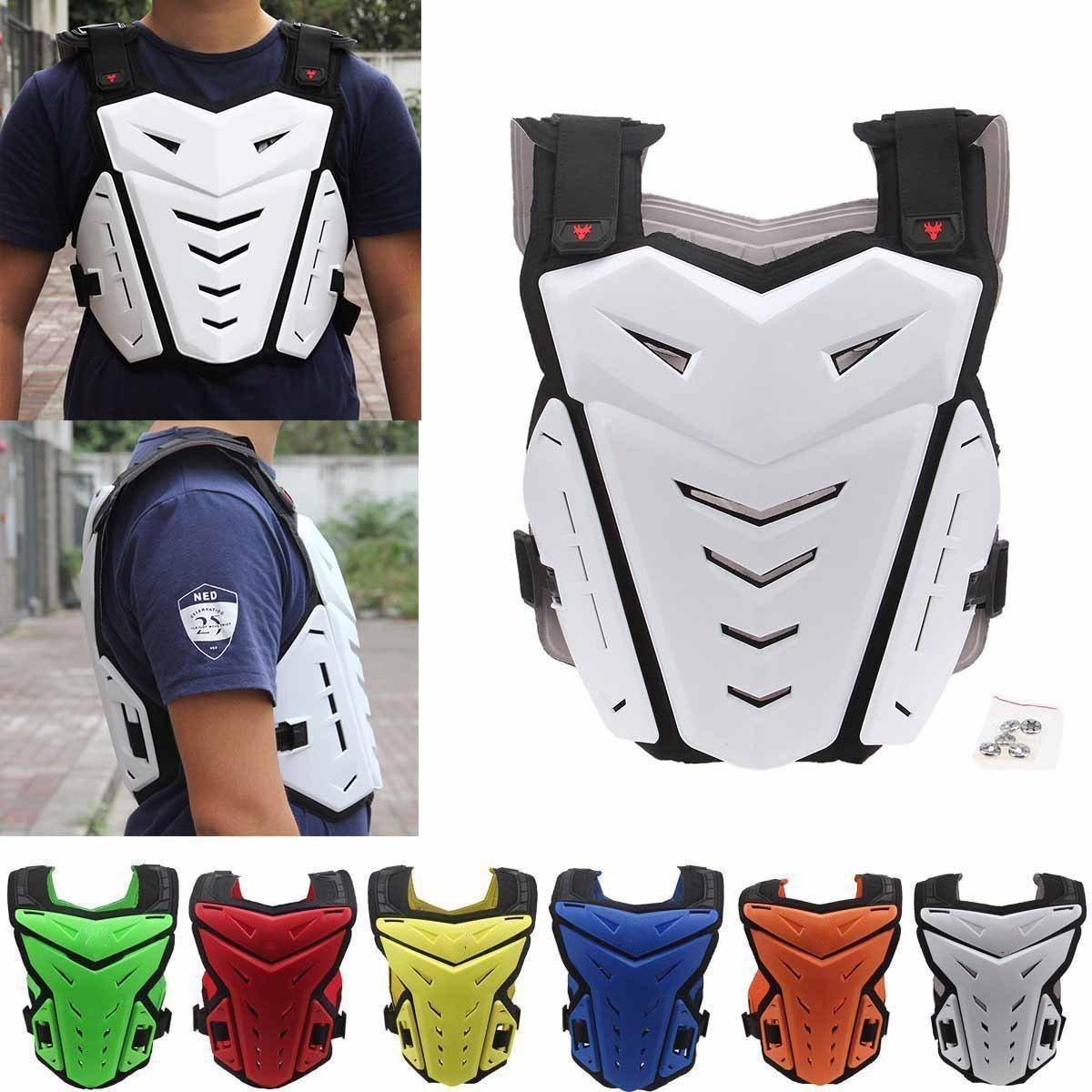 Possbay Chest Back Protector, Body Vest Armor Protective for Motocross Riding Skating Skiing Scooter