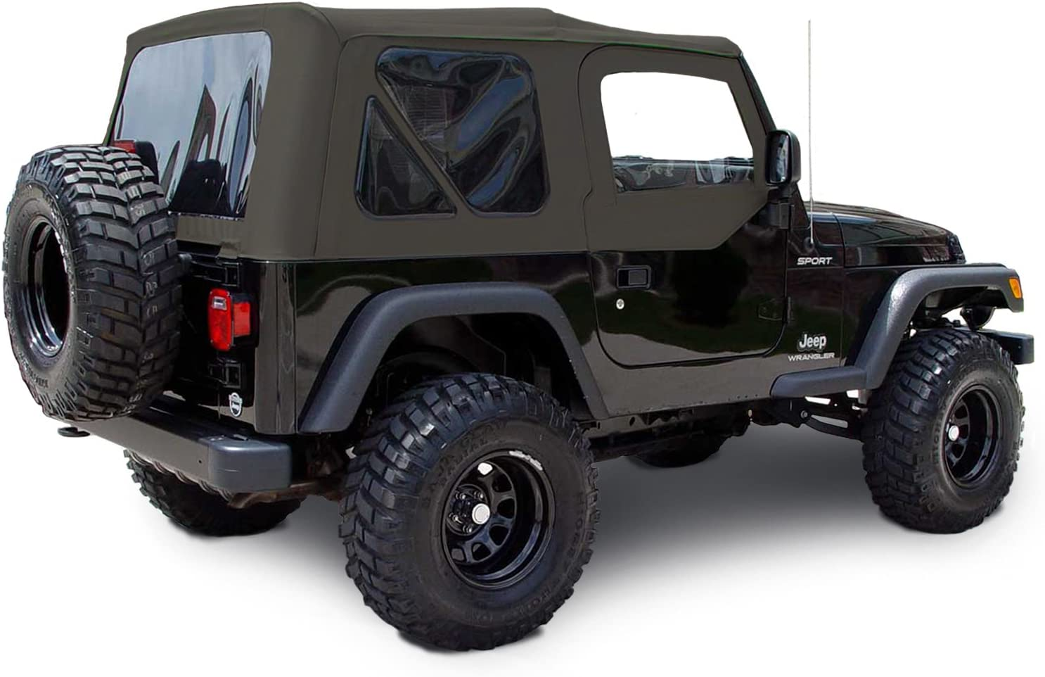 Sierra Offroad TJ 2003-06 Factory Style Soft Top with Tinted Windows and Soft Upper Doors Khaki Diamond