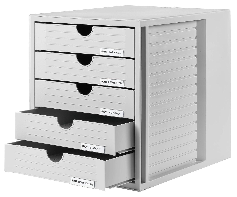 HAN 1450-11 - Cajonera para archivadores, gris