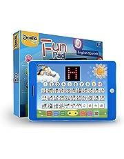 Boxiki Kids Tablet Educativa de Juguete Bilingüe Español-Inglés Pantalla LCD por Pad Toca y