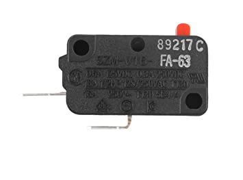 Podoy SZM-V16-FA-63 Microwave Switch for LG 3B73362F Micro Monitor Switch Normally Open WB24X830 SZM-V16-FD-63 (Pack of 2) Black