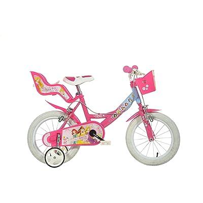 Dino Bikes 144R-PSS Disney Princess Kids Bicycle, Pink: Toys & Games