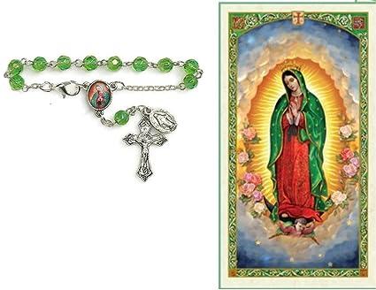 Amazon virgen de guadalupe rosario de carro incluye tarjeta de virgen de guadalupe rosario de carro incluye tarjeta de rezo bendecida por su santidad altavistaventures Choice Image