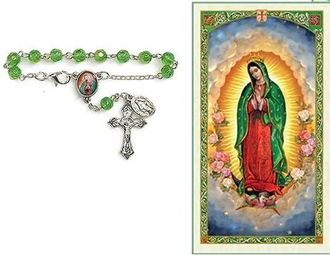 Amazon virgen de guadalupe rosario de carro incluye tarjeta de virgen de guadalupe rosario de carro incluye tarjeta de rezo bendecida por su santidad thecheapjerseys Gallery