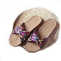 EULAGPRE Zapatillas de Lino Zapatos de Piso Zapatillas