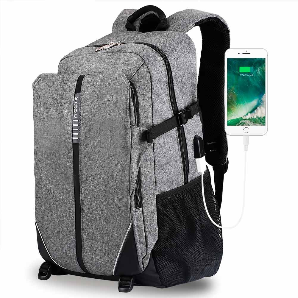 "Laptop Backpack Travel Computer Bag for Women Men Business Backpack with USB Charging Port Fit Under 17"" Laptop Notebook"