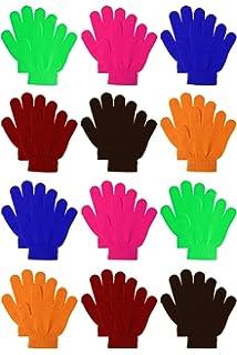 HALLOWEEN KIDS Magic Gloves Pair Winter Warm Girls Boys Stretch Black Children