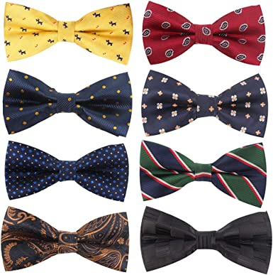 8 PACKS Men's Bow ties Adjustable Bow-ties For Boys Gift at Amazon Men's  Clothing store