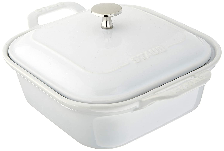 Staub 40508-638 Ceramics Square Covered Baking Dish, 9x9-inch, Basil