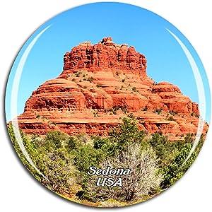 Weekino USA America Cathedral Rock Sedona Fridge Magnet 3D Crystal Glass Tourist City Travel Souvenir Collection Gift Strong Refrigerator Sticker