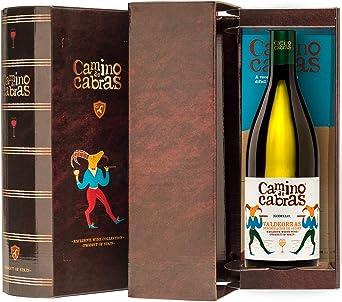 CAMINO DE CABRAS Estuche regalo - vino blanco - Godello D.O. Valdeorras - 1 botella x 75cl - Producto Gourmet - Vino bueno para regalo - Vino Premium - Alcohol 13% vol: Amazon.es: Alimentación y bebidas