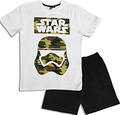Star Wars Mens Stormtrooper Short Pyjama/Shortama PJS Cotton Pajama (XX-Large)