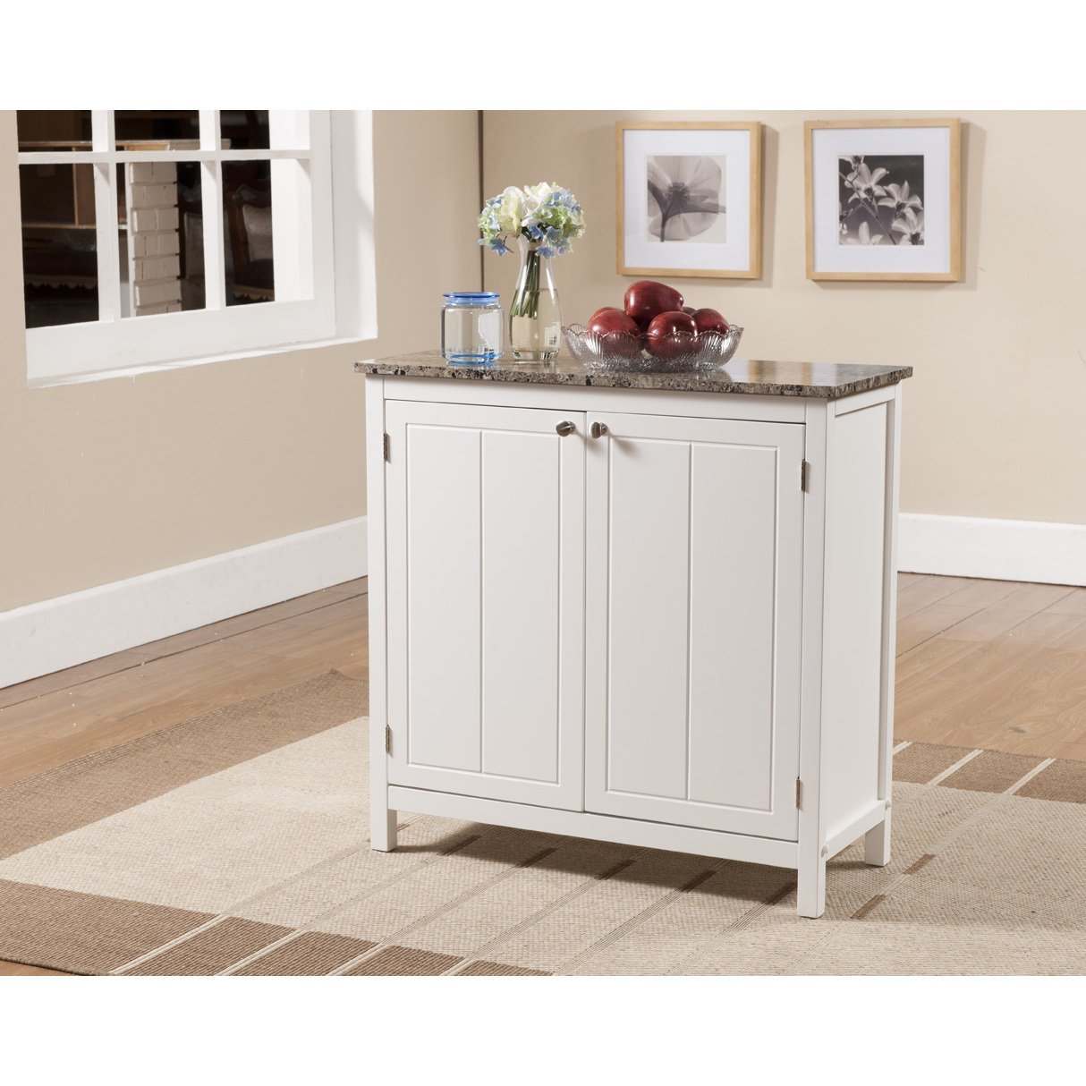 Amazon Com Havenside Home Marineland White And Faux Marble Kitchen