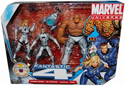 Marvel Universe 3 3/4 Inch Action Figure 3Pack Fantastic Four ...