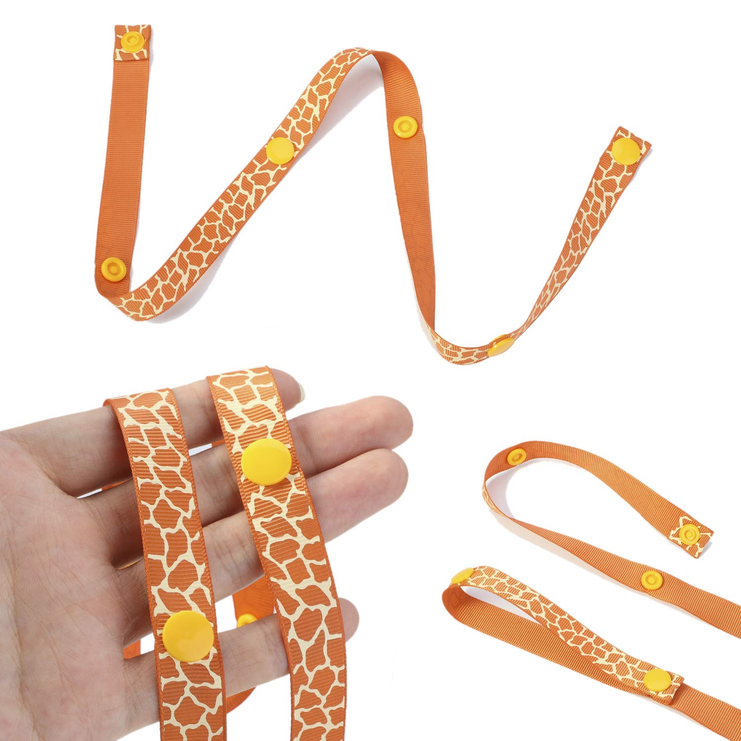 Hifot Baby Toy Straps 5 Pack 5 New Sippy Pal Baby Bottle Cup Pacifier Safety Strap Toy Dummy Clip Anti-Drop Strap Holder Hanger Hook for Stroller Pushchair Pram