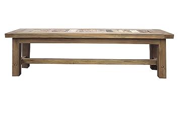 Phenomenal Amazon Com Recycled Teak Bench Made By Chic Teak Table Inzonedesignstudio Interior Chair Design Inzonedesignstudiocom