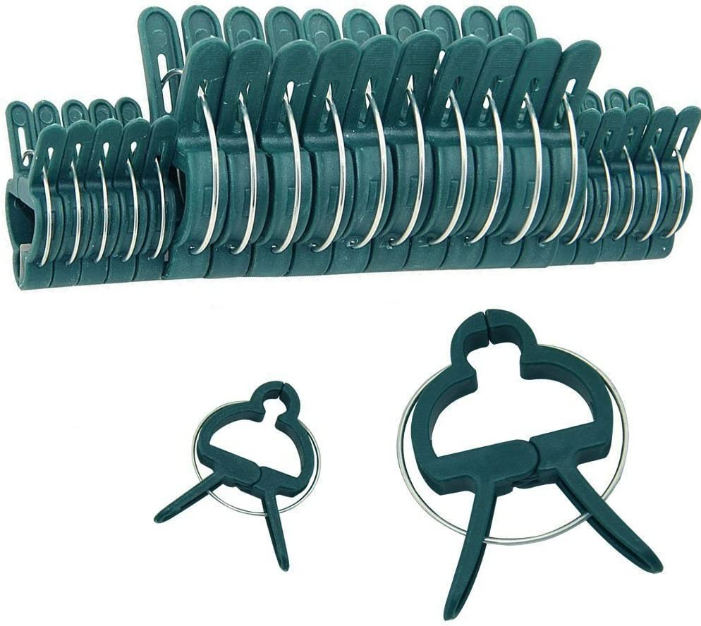 20pcs Garden Plant Clip,Support Plastic Spring Peg Clamps for Supporting Stems Vines Stalks.
