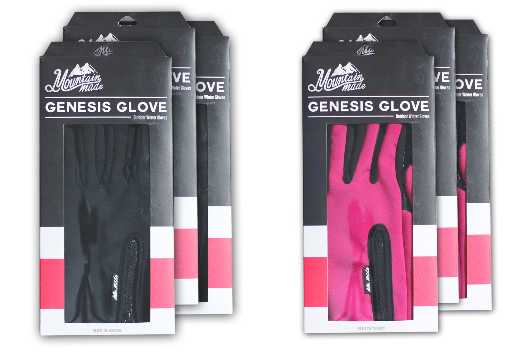 Mountain Made Cold Weather Genesis Gloves for Men & Women, Medium, Black by Mountain Made (Image #7)