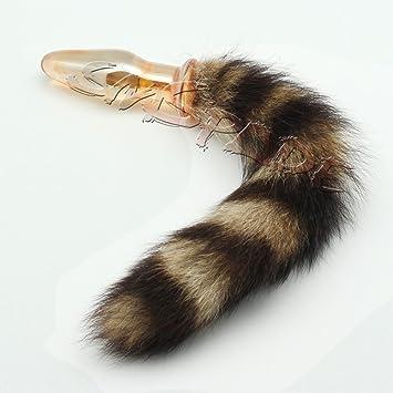 glass anal Fox tail plug