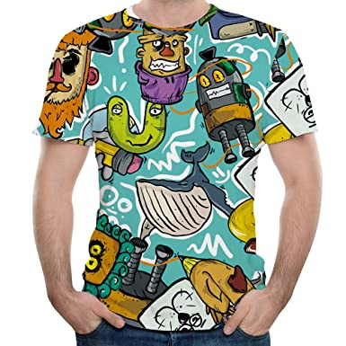 fe8314bfc6d6 Image Unavailable. Image not available for. Color  EbuyChX Puppet Animation  3D Printed Men s Short Sleeve T-Shirt ...