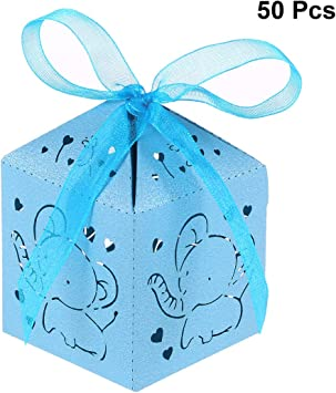 Amazon.com: STOBOK 50pcs Corazón Elefante Boda Bebé Ducha ...