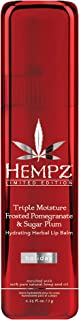 product image for Hempz Triple moisture frosted pomegranate & sugar plum hydrating herbal lip balm, 0.25 Ounce