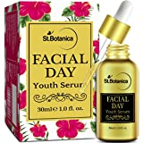 StBotanica Facial Day Youth Serum - 30ml - with Natural SPF & Vitamin C for Skin Brightening, Fairness