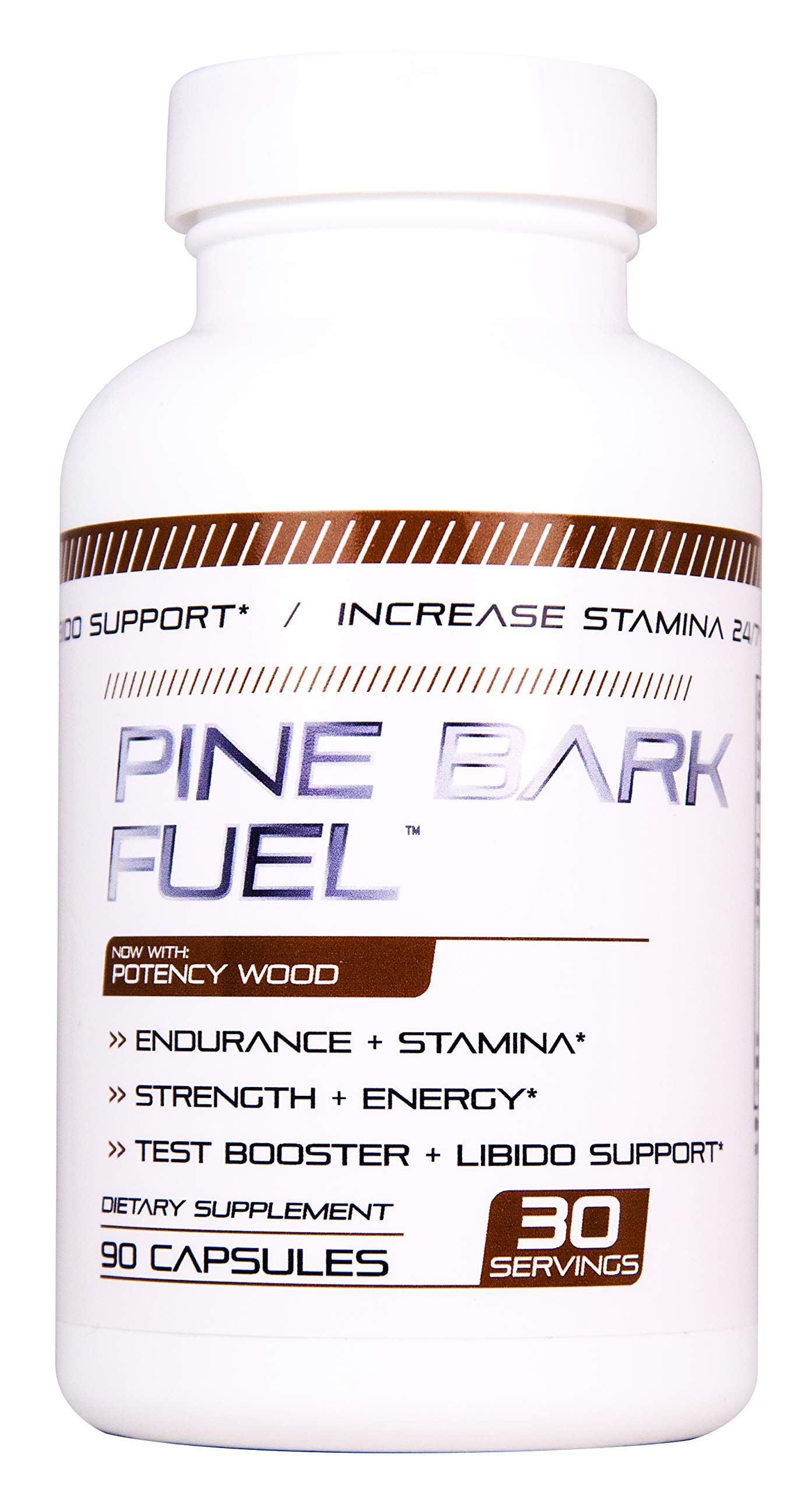 PINE BARK FUEL Male Enhancing Pills (1 Month Supply) - Enlargement Booster for Men - Increase Size, Strength, Stamina - Energy, Mood, Endurance Boost - All Natural Performance Supplement - Made in USA by NuCell