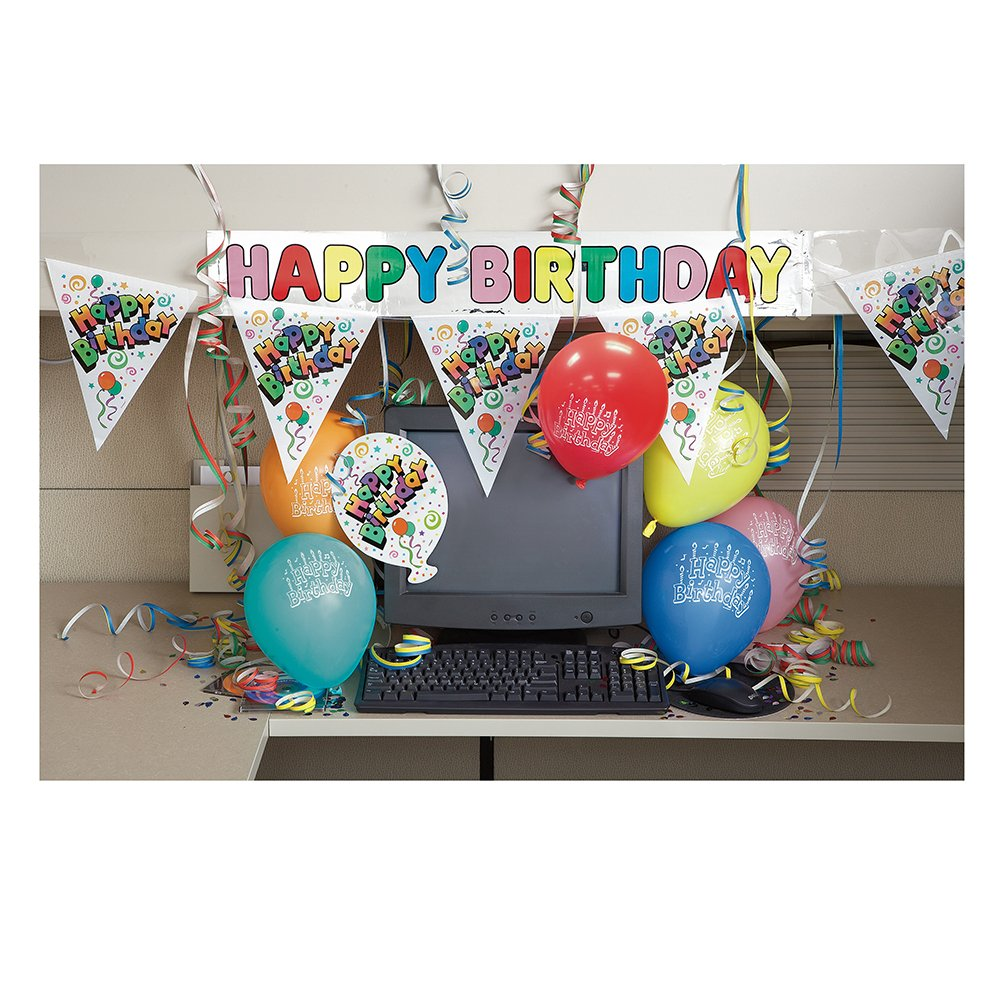 decorations for office cubicle. Amazon.com: Office Birthday Party Cubicle Decoration Kit, 7pc: Kitchen \u0026 Dining Decorations For