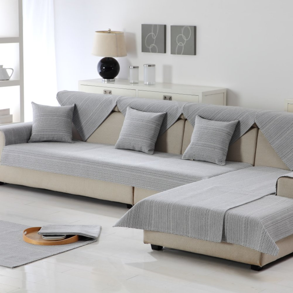 Sofa towel Cotton sofa cushions Anti-skidding [breathable] Wear-resistant and durable-B 110x260cm(43x102inch)