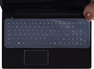 """Universal Silicone Keyboard Protector Cover Skin for 15.6""""-17.3"""" Laptop Notebook with Numeric Keypad Keyboard, Clear"""
