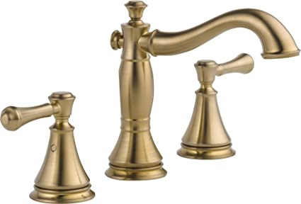Groovy Delta Faucet Cassidy 2 Handle Widespread Bathroom Faucet With Metal Drain Assembly Champagne Bronze 3597Lf Czmpu Download Free Architecture Designs Oxytwazosbritishbridgeorg