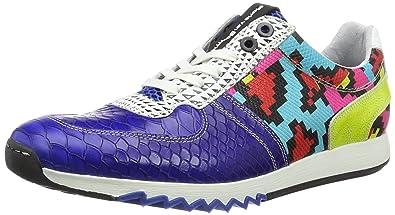 f84b2ef478 Floris van Bommel Mens 16127/33 Low-Top Sneakers Blue Size: 41 ...