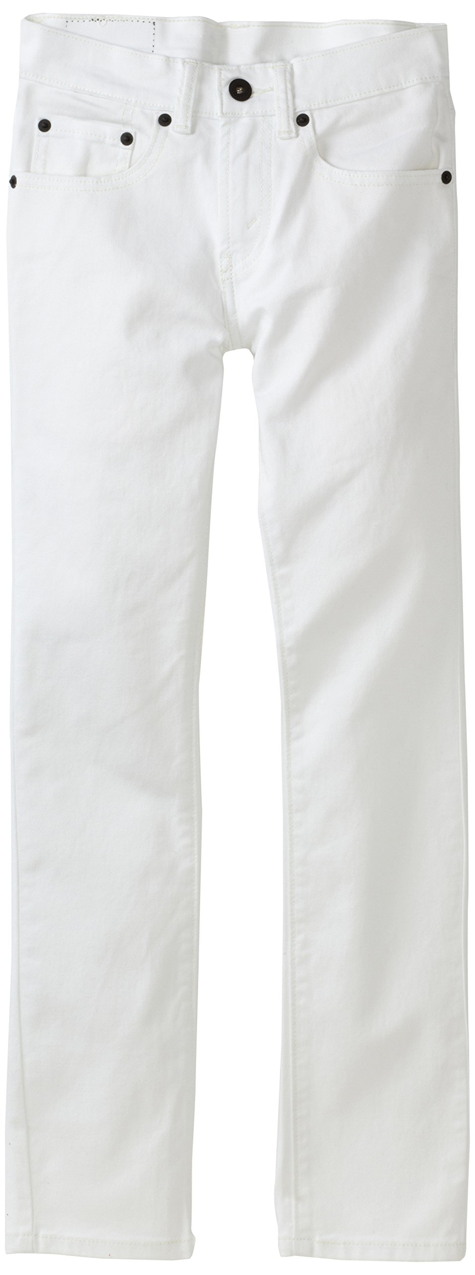 Levi's Boys' Big 510 Skinny Fit Jeans, White, 8