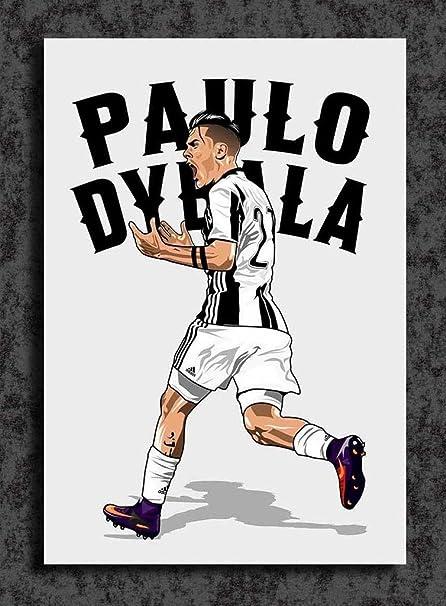 b3e287105 Tamatina Juventus Football Club Wall Poster - Paulo Dybala - HD Quality  Football Poster  Amazon.in  Home   Kitchen