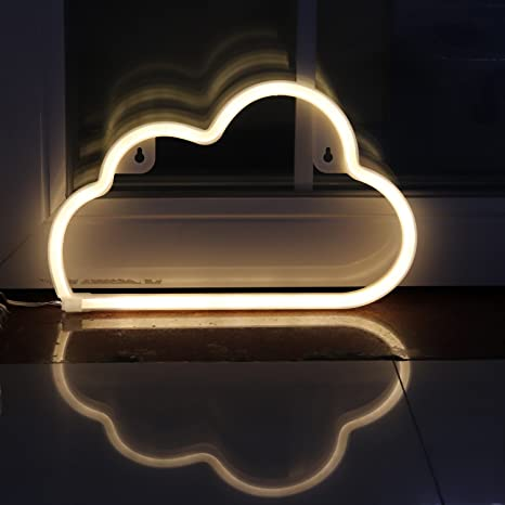 Led Neon Signs Cloud Wall Decorative Night Light For Bedroom Girls Kids Room Home Decor Neon Light Battery Powered And Usb Plug Necld