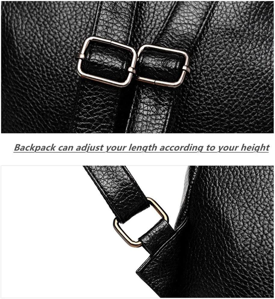 ZZW Girl Student Backpack Design : B Casual Breathable Polyester Travel Sports Bag Trend Ladies Pure Black Knapsack Fashion Simple Hiking Rucksack