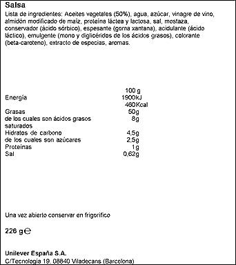 Flora Salsa Sin Huevo - 226 g: Amazon.es: Alimentación y bebidas