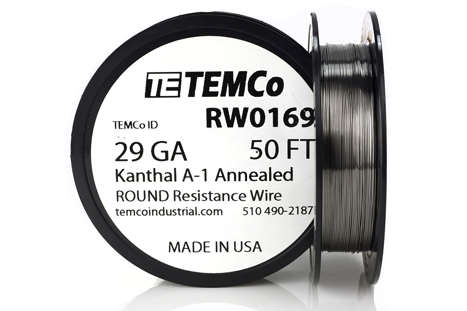 TEMCo Kanthal A1 wire 29 Gauge 25 Ft Resistance AWG A-1 ga ...