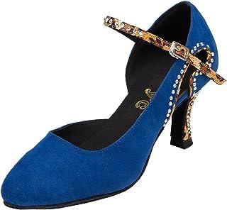 MINITOO Ladies th179fermées Taogo Latine de Bal Chaussures Pompes de Mariage de Mode en Cuir Daim