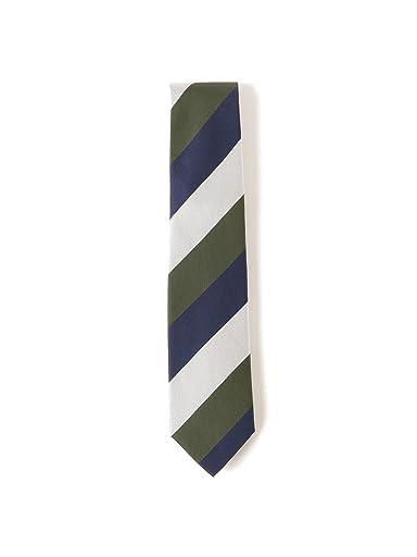 Silk Stripe Tie 21-44-6006-380: Olive