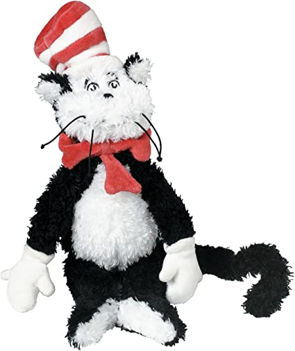 Seuss Cat in The Hat Soft Plush Toddler Toy Stuffed Manhattan Company New Dr