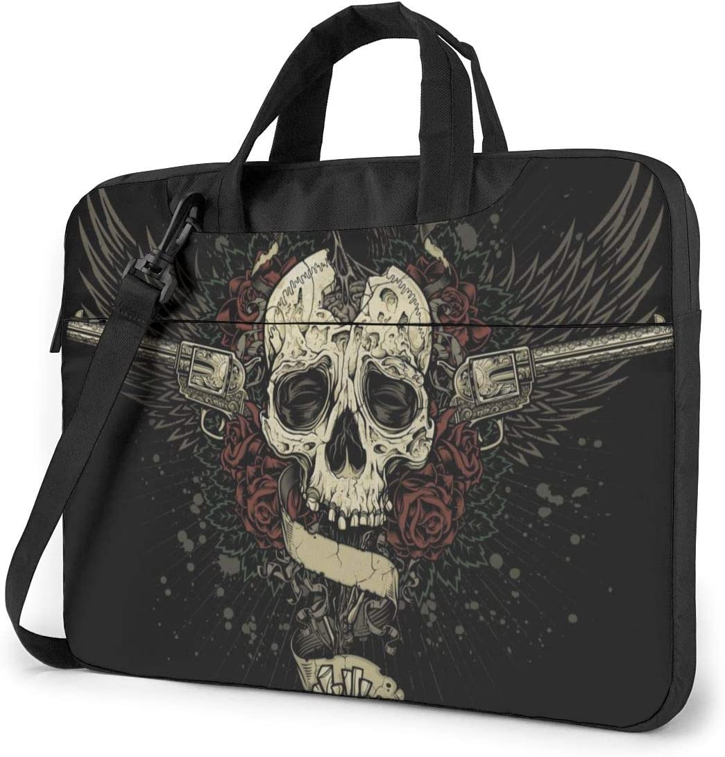 Crow Eating Sugar Skull Brain Laptop Case 13 Inch Computer Carrying Protective Case with Strap Bag