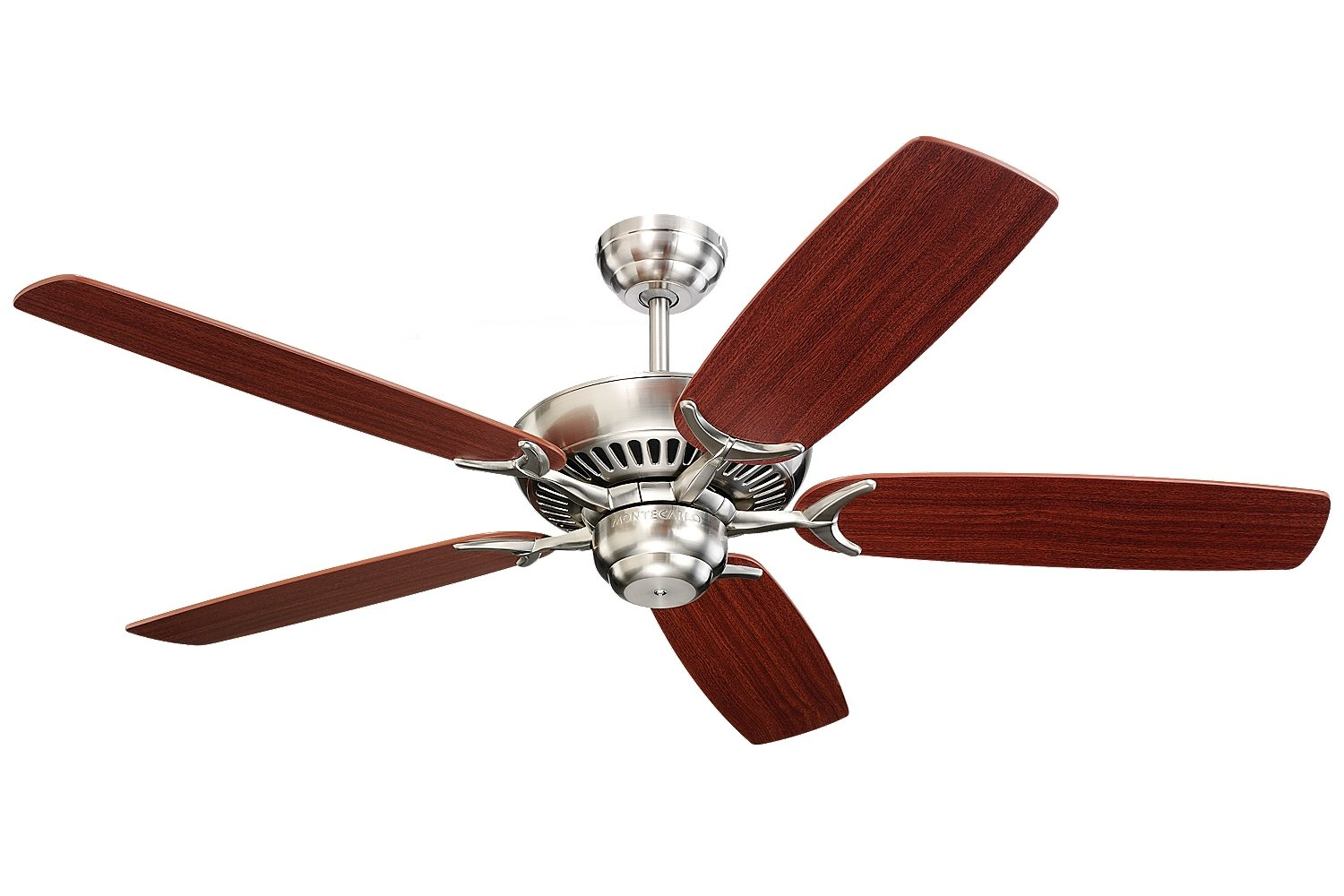 Monte carlo 5co52bs colony 52 inch 5 blade ceiling fan with motor monte carlo 5co52bs colony 52 inch 5 blade ceiling fan with motor and mahogany blades brushed steel amazon aloadofball Image collections