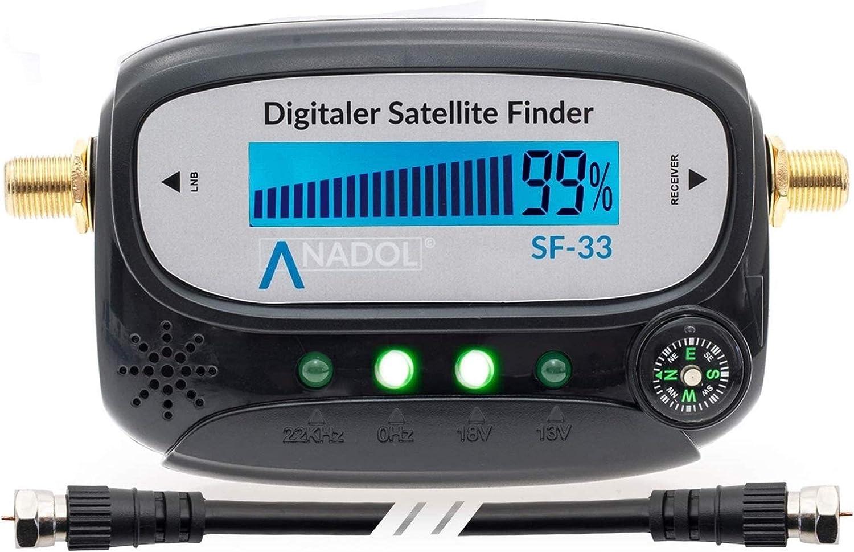 Anadol Medidor de satélite SF33 LCD con brújula, sonido ...